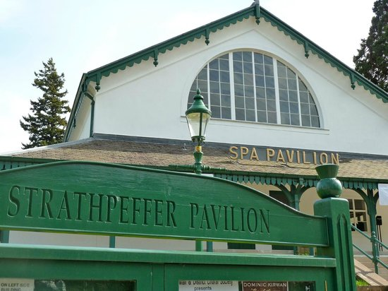 The iconic Strathpeffer Pavilion - the Cafe Bar is at the rear of the building
