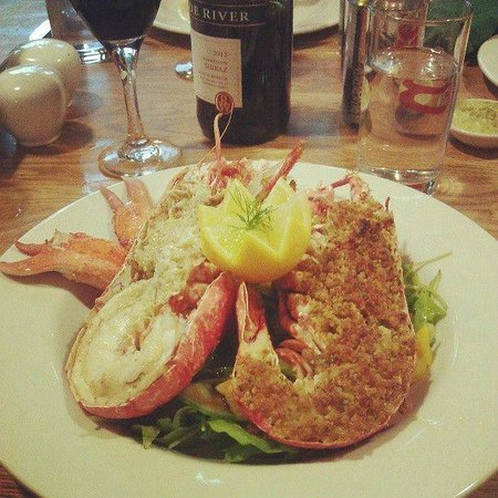 Strathpeffer Pavilion: Chef Raymond's lobster special - photo courtesty of Kevin Munro