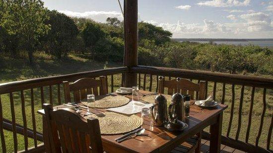Hluhluwe River Lodge: Ausblick vom Speisesaal