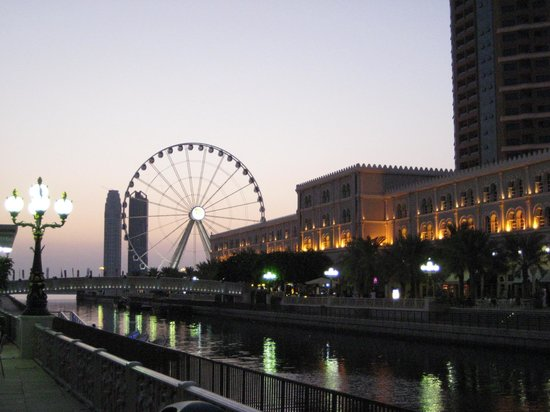 Al Qasba at sunset