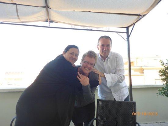 B&B La Duchessa A Roma : Daniela, myself & Marco