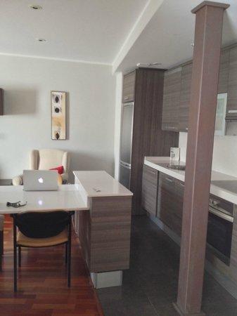 Apartamentos Sabinas El Pilar : Kitchen area