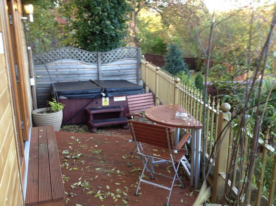 The Private Hot Tub And Terrace Of Le Jardin Room Picture Of The