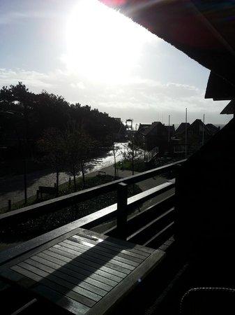 Vlierijck: Vanaf het balkon kan je de boot zien aankomen