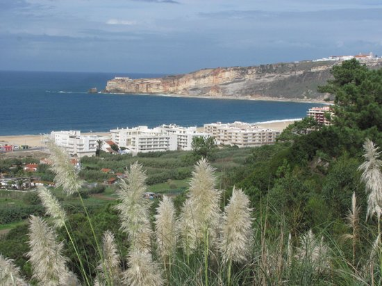 Hotel Miramar Sul : View part Nazaré from swimming pool