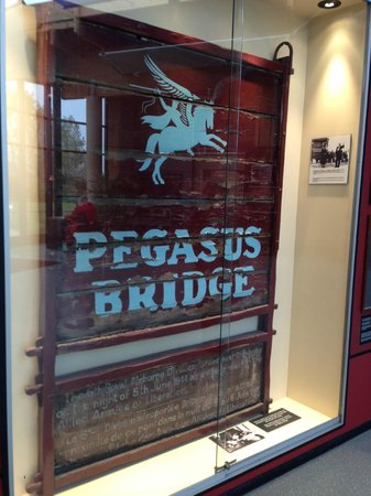 Pont Pégasus : Original sign commorating the taking of the bridge