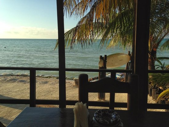 Casa Nostra Restaurant: View of the ocean from our table