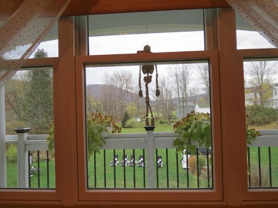 The Roxbury, Contemporary Catskill Lodging: View From Our Room-Halloween Decorations