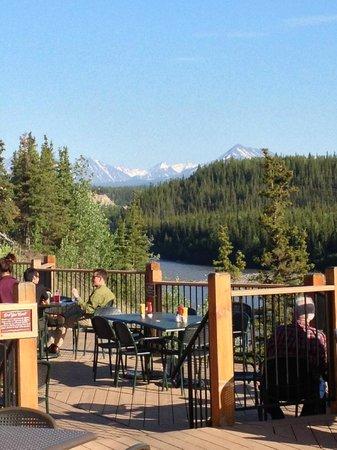 Denali Princess Wilderness Lodge: View from restaurants into Denali National Park