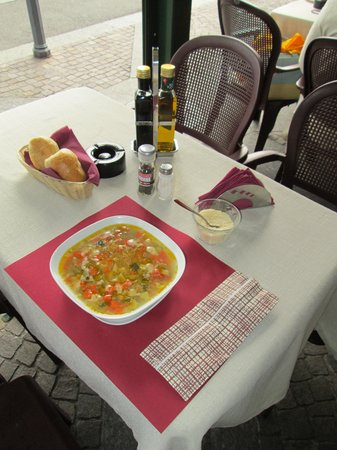 Bar Sport Lenno: my table with vegetable soup