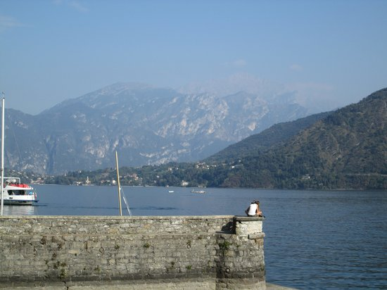 Bar Sport Lenno: from my table looking out at Lake Como