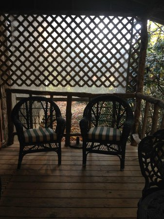 Banner Haven B&B and Cabin Rentals : Back Porch