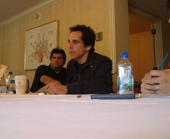 Four Seasons Hotel Los Angeles at Beverly Hills: Breakfast meeting with Ben Stiller