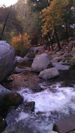 Junipine Resort: Creek on the gounds