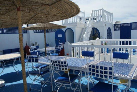 Riad Dar Nafoura : Terrasse - Vous accueillera pour les petits déjeuners