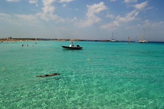 Playa de Ses Illetes: mar de Formentera