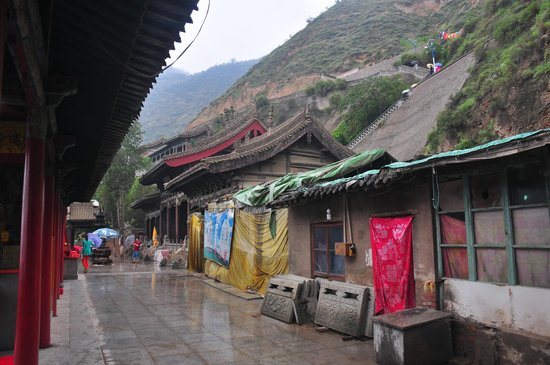 Wuquan Mountain Park: temple construction