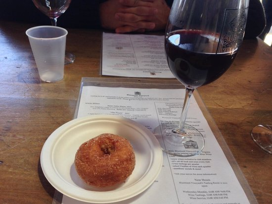 Bluemont Vineyard: cider donut and mulled wine