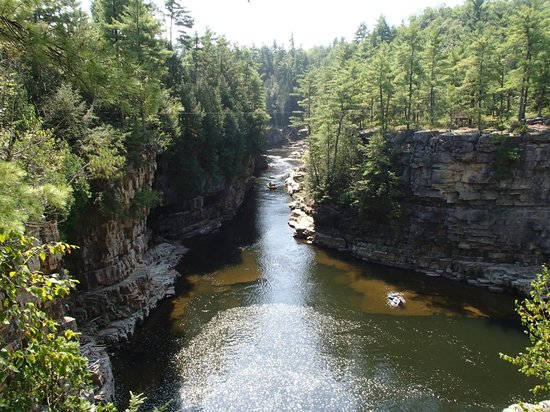 Ausable Chasm: The River View after the rapids ride