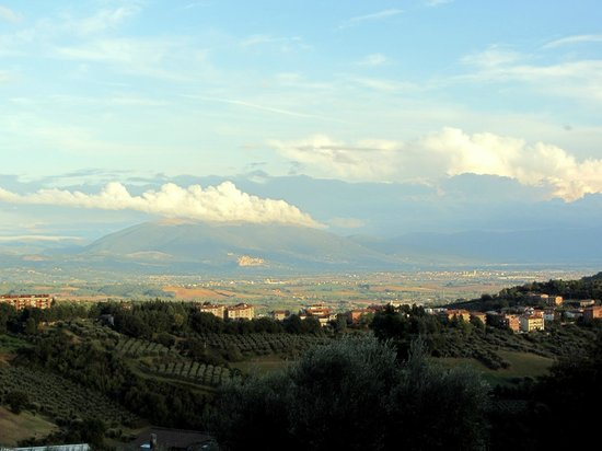 The view with Assisi shining in the distance - Picture of B&B Le ...