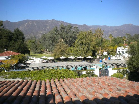 Ojai Valley Inn & Spa: southern view - family pool below