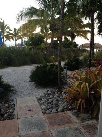 The Naples Beach Hotel & Golf Club: Patio Wing - view from our room