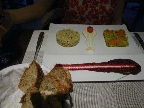 Les Flots Bleus : Wonderful vegetable platter