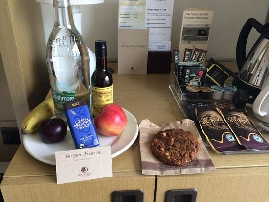 DoubleTree by Hilton Manchester Piccadilly: freebies in room.