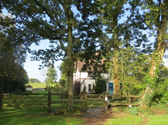 Dibden, UK: Dale Farm House through the trees