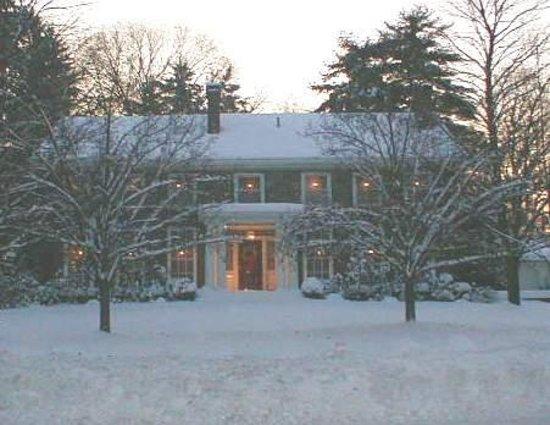 Antique Stone House Winter