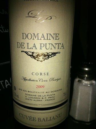 Le Bistrot d'Emile: superbe vin corse