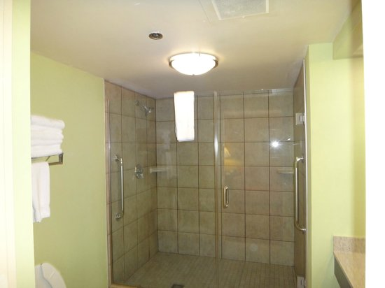 Holiday Inn Express Greenville: Spacious Shower in King and Double Suites