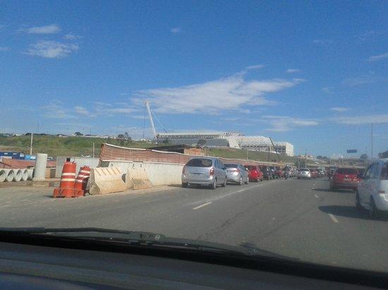Corinthians Arena: O monumento pode ser avistado de longe, lindo!