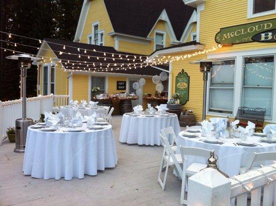 McCloud River Inn : Our first wedding.