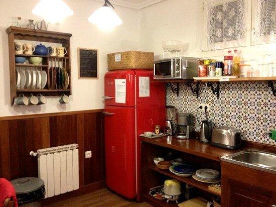 Pension Amaiur: Cocina de desayuno