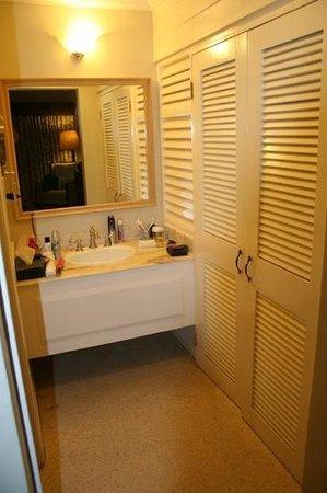 Sandals Halcyon Beach Resort : hand basin and walldrobe