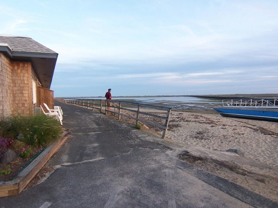 Provincetown Inn Resort & Conference Center: View from inn of rock wall - access to deserted beach and light house