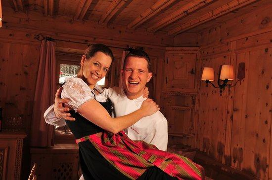 IN LAIN Hotel Cadonau: Gastgeber Tamara und Dario Cadonau