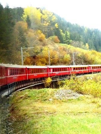Bernina Express: Bögen und Kurven
