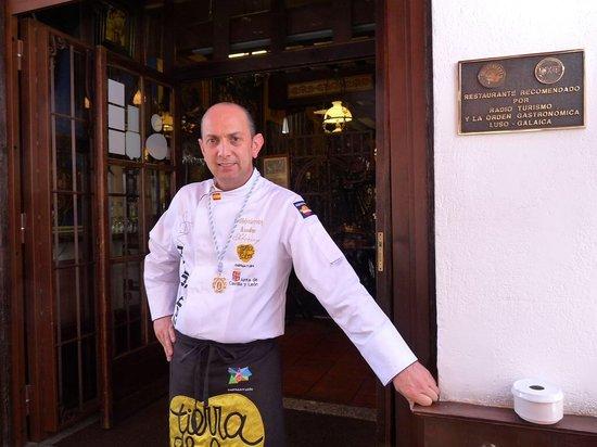 Arevalo, Spain: El chef Javier rodriguez