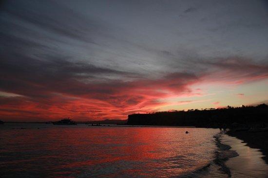 Jaz Fanara Resort & Residence : закат. Вид с пляжа
