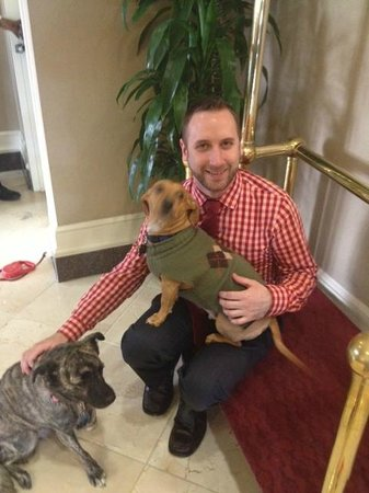 Residence Inn Charlotte Uptown: Jeremy Gordon, Asst GM, with Bella and Buddy