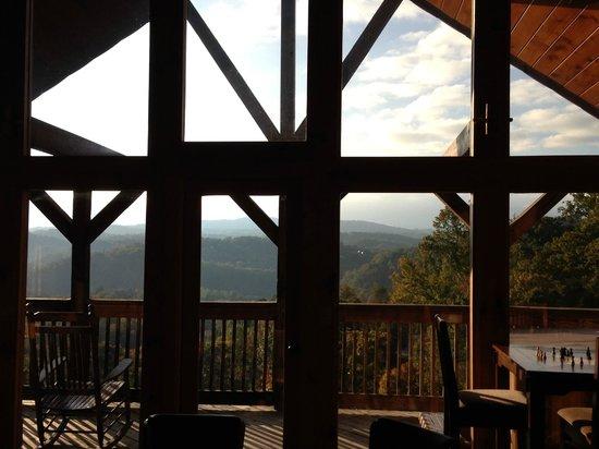 Starr Crest Resort: View from top floor master bedroom loft