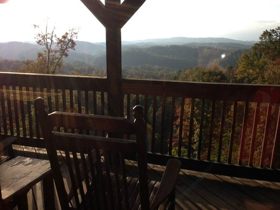 Starr Crest Resort : View from top balcony off of master bedroom loft area