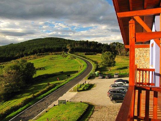 Hotel-Apartamento Rural Atxurra: Blick vom Balkon/Appartment Nr. 21
