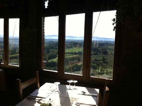 La Cisterna Hotel: Panorama dal ristorante