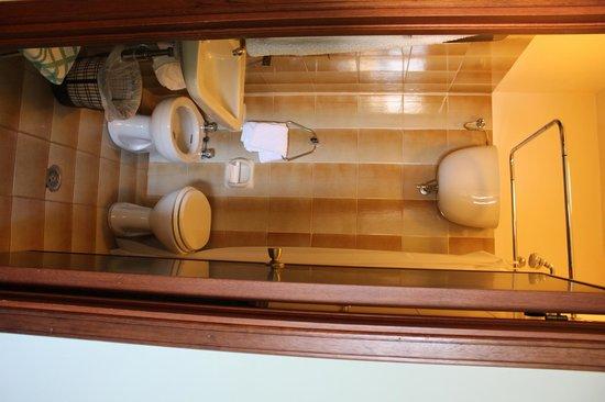 Roma Hotel: The bathroom (it is tiny)