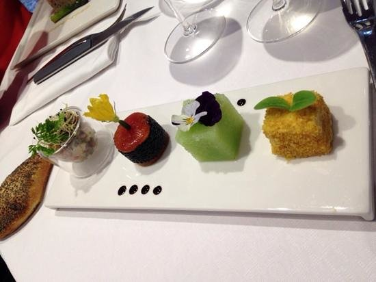 L'Eveil des Sens : entrėe du menu a 35 €