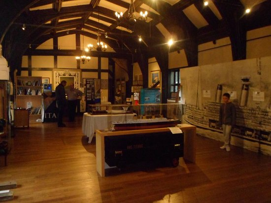 Eccleston, UK: One of the three exhibition rooms that make up the Lancashire Titanic Museum.