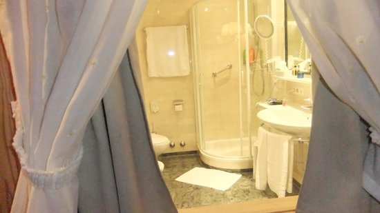 Hotel Gruner Baum : Bagno molto spazioso
